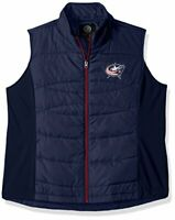 GIII For Her NHL Columbus Blue Jackets Women's Wing Back Vest, X-Large, Navy
