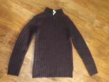 M&S MENS BURGUNDY WOOL MIX JUMPER TOP SIZE SMALL S BNWT RP £39