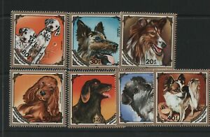 Thematic stamps MONGOLIA 1984 DOGS 1628/34 mint
