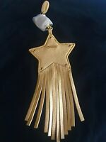 Furla Leather Star With Tassel Keychain & Bag Charm New Sealed
