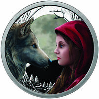 Colorized 1 OZ .999 SILVER COIN LISA PARKER MOONSTRUCK # COA 750 MINTED Wolf Art