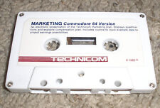 Vintage Commodore 64/VIC 20 MARKETING Software Cassette Tape by Technicom RARE!