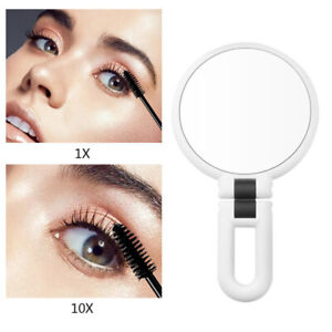 Magnifying Handheld Mirror,Travel Folding Double Sided Pedestal Makeup Mirro