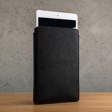 Black Slim Real Pebble Grain Leather Pouch Sleeve Case Apple iPad Mini 1,2,3,4