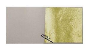 100 Blatt Echtes Blattgold 23 Karat Echtgold 3,8 x 3,8cm zum Vergolden & Basteln