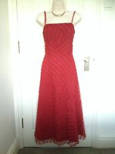 Phase Eight Rosso 50' Cocktail Party Corsetto Midi Prom Evening Dress Size 10-12