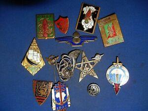 lot de d'insignes indochines,legion ,coloniales ,