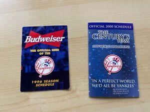 1996 2000 New York Yankees pocket schedules - Derek Jeter, Mariano Rivera