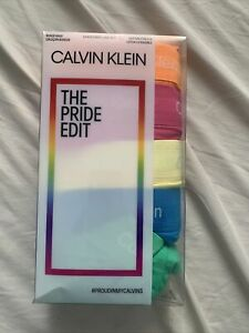 Calvin Klein 5 Pack Pride Boxer Briefs  LARGE LIMITED EDITION