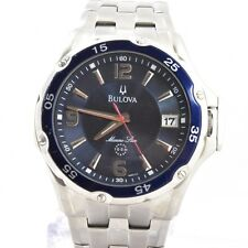 Bulova Men's 98B111 Marine Star Stainless Steel Bracelet Blue Watch