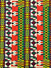"African Print Fabric-KENTE, 45"" Width x 6 Yards,100%Cotton"