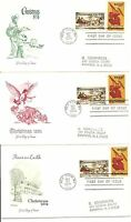 SC #1550-1551 Christmas1974 (Currier & Ives, Religious)Artmaster Cachet 3 covers