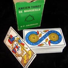 Ancien Tarot de Marseille GRIMAUD Paul Marteau jeu de cartes divinatoire VINTAGE