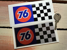 Union 76 Chequered Race Sports Car stickers