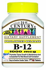 21st Century Vitamin B-12 1000mcg Prolonged Release Tablets 110ct -Exp. 02-2021-