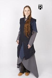 Medieval Tunic Women Wool Elf Warrior /Larp - Blue By Burgschneider