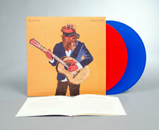 """Iron & Wine Beast Epic 2x RED/BLUE VINYL LP Record Deluxe with 12""""/MP3/Stickers!"""