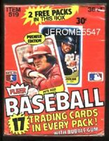 1981 FLEER Baseball  Wax Card Box PREMIER EDITION Box 38 Packs UNOPENED #B9L#A7L