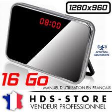 RVLD RÉVEIL CAMERA ESPION DESIGN 960P + MICRO SD 16 GO ANGLE 140° DÉTECTION