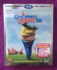 Gnomeo and Juliet 3D (Blu-ray 3D/Blu-ray/DVD/Digital, 2011) NEW w/ Slipcover