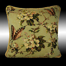"""GREEN VINTAGE BUTTERFLY TAPESTRY BOTH SIDES CUSHION COVER THROW PILLOW CASE 17"""""""