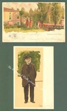 METLICOVITZ L. , due cartoline a colori commemorative di Giuseppe Verdi.