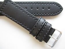 Eichmuller black smooth 24 mm leather watch band
