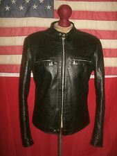 Superb Vintage  BROOKS  J-100  Cafe Racer Motorcycle Leather Jacket . Size 42