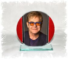Elton John, Candle In The Wind, Cut Glass Round Plaque Limited Edition #4