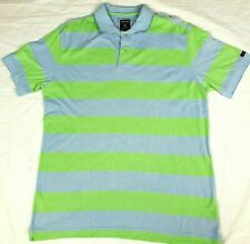 Mens GAZMAN Blue and Green Striped Polo Top Size L Gazman Rugby Top