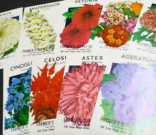 8 LOT OF VINTAGE SEED PACKETS FLOWERS C1930S NEW BERN NORTH CAROLINA NOS MIXED