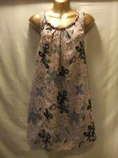 LADIES NWT Evie 8 CAPPUCCINO CREPE/DARK FLORAL/PETTICOAT LINING/SLEEVELESS FROCK