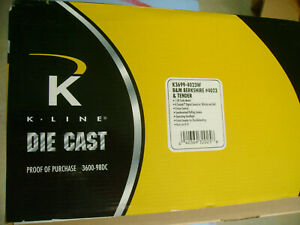 K-LINE O K3699-4023W 2-8-4 STEAM ENGINE B&M BERKSHIRE & TENDER 3 RAIL TRAIN
