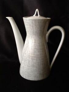Rosenthal Porzellan  Form 2000 Seidenbast Latham Loewy Kaffekanne & Zuckerschale