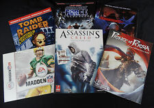 6 PRIMA STRATEGY GUIDES MADDEN 09 TOMB RAIDER STAR WARS ASSASSINS CREED +2 MORE