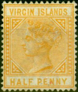 Virgin Islands 1883 1/2d Yellow-Buff SG32 Good Unused