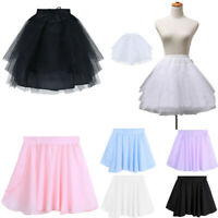 US Flower Girls Petticoat Underskirts Crinoline Communion Skirt Ballet Dancewear