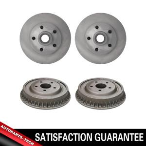 Centric Front + Rear Brake Rotors & Brake Drums 4PCS For Chevrolet Blazer