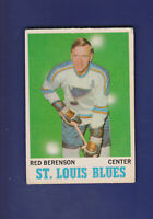 Red Berenson 1970-71 O-PEE-CHEE OPC Hockey #103 (VGEX) St. Louis Blues