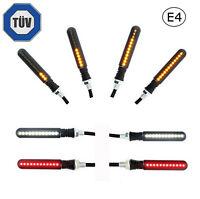 4x LED Motorrad Mini Blinker Tagfahrlicht Bremslicht | Sequentiell Lauflicht E4