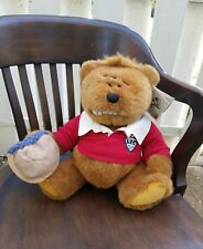 NWT Lands End Gund Kid Kodiak Authentic Rugby Bear 1996 Limited Edition Plush