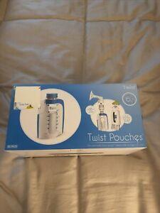 Kiinde Breast Milk 6oz Storage Twist Pouch-Pack of 80-NIB