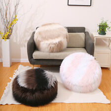 Bean Bag Cover Faux Fur Ottoman Footstool Round Stool Chair Cover No Filling