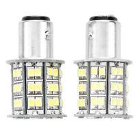 2X BAY15D 1157 White 60 SMD LED Tail Stop Brake Turn Light Bulb M4I9