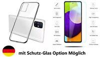 Samsung Galaxy Schutzhülle Silikon Handyhülle + 9H Schutzglas Panzer Folie