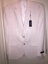 """CHAPS Men's Suit Jacket Two-Button """"WHITE"""" Size 44REG Dress/Casual NEW with Tags"""
