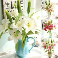 Artificial Calla Lily Wedding Bridal Bouquet Fake Flowers DIY Wedding Home Decor