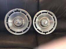 "70's Chevrolet Motor Division 14"" Hub Caps Wheel Covers Chevrolet Set of 2"