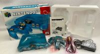 Funtastic Ice Blue Nintendo 64 N64 Game Console CIB Complete In Box EXCELLENT