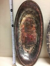 4 Silver Plate Platter Trays Dish